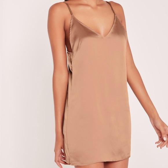 107f1d3a3837 Missguided silky rose gold slip dress. M_5a9c61ee50687ce30e935a70